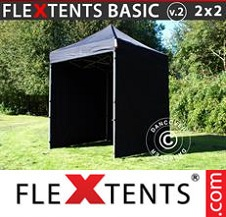 Eventtält FleXtents Basic 3x3m Vit, inkl. 4 sidor