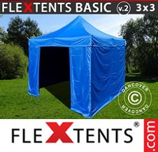 Eventtält FleXtents Basic 3x3m Grön, inkl. 4 sidor
