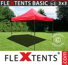 Eventtält FleXtents Basic 3x3m Röd