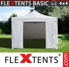Eventtält FleXtents Basic 4x4m Vit, inkl. 4 sidor