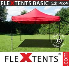 Eventtält FleXtents Basic 4x4m Röd