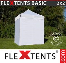 Eventtält FleXtents Basic 2x2m Vit, inkl. 4 sidor