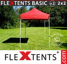Eventtält FleXtents Basic 2x2m Röd