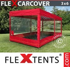 Eventtält FleXtents Basic 3x6m, Röd