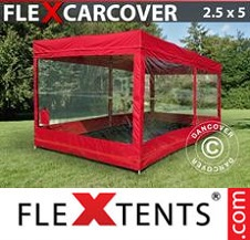 Eventtält FleXtents Basic 2,5x5m, Röd