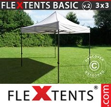 Eventtält FleXtents Basic 3x3m Svart, inkl. 4 sidor