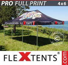 Eventtält FleXtents PRO med fullt digitalt tryck 4x6m