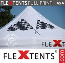 Eventtält FleXtents PRO med fullt digitalt tryck 4x4m