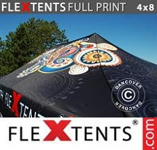 Eventtält FleXtents PRO med fullt digitalt tryck 4x8m
