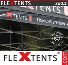 Eventtält FleXtents PRO med fullt digitalt tryck 3x0,2m