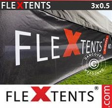 Eventtält FleXtents PRO med fullt digitalt tryck 3x0,5m