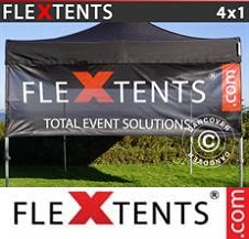 Eventtält FleXtents PRO med fullt digitalt tryck 4x1m