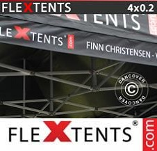 Eventtält FleXtents PRO med fullt digitalt tryck 4x0,2m