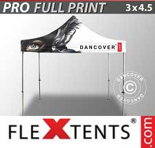 Eventtält FleXtents PRO med fullt digitalt tryck 3x4,5m